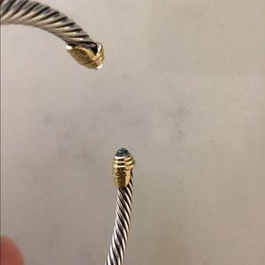 David Yurman Jewelry - David Yurman Cable Bracelet - aquamarine